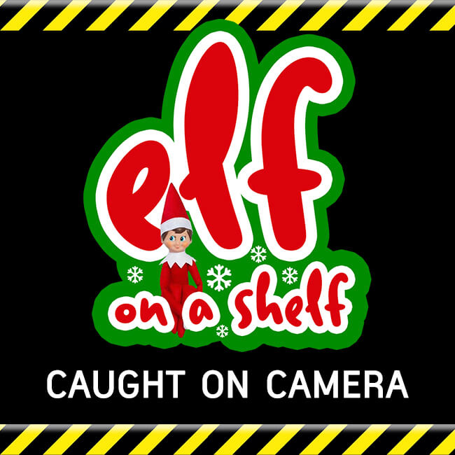 elf on a shelf caught on camera