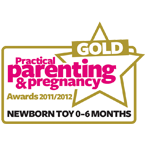 Practical Parenting & Pregnancy 2011 Newborn Toy 0-6 months GOLD