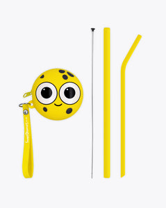 sylvester sponge | bendies kids silicone reusable straws | yellow