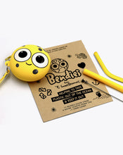 Load image into Gallery viewer, sylvester sponge | bendies kids silicone reusable straws | yellow