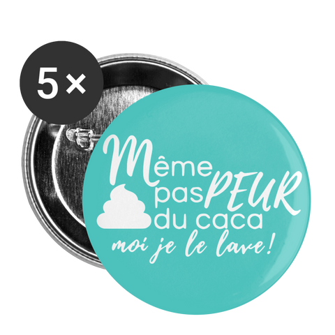 Lot de 5 Badges - white