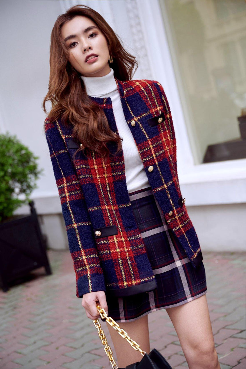 Scotland Tweed Oversized Jacket - WALENTY - Babe n Bear