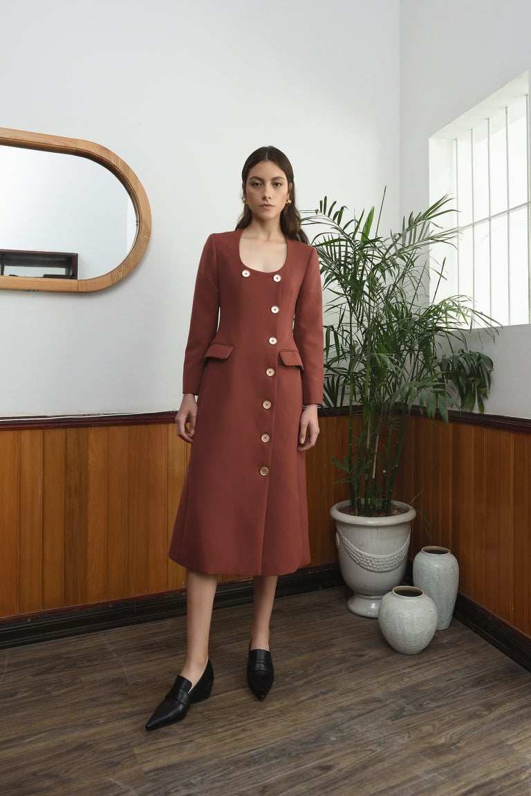 POLISH COAT DRESS | RED - WEP 27 - Babe n Bear Official