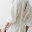 White Pleated Shirt With Back-Bow - MNT