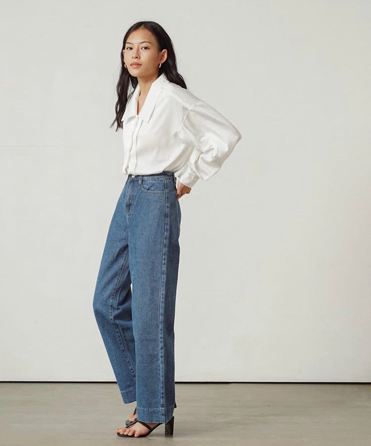 Wide leg Jeans with hem - MNT