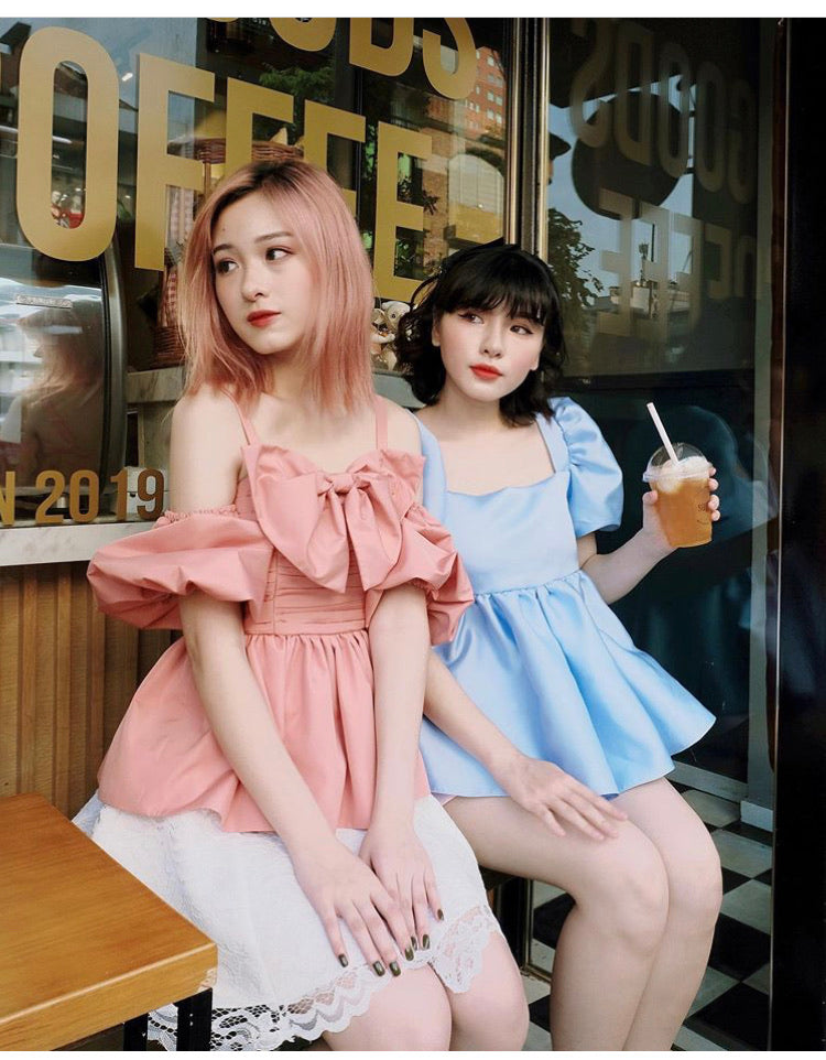 OFF SHOULDER TOP WITH BOW - REN 23 - Babe n Bear Official