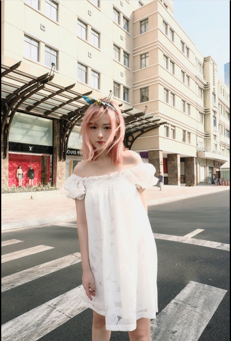 Off Shoulder White Dress - REN 3 - Babe n Bear Official