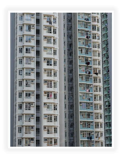 Kunstdruck - Fotokunst - Hong Kong - New Estate Building