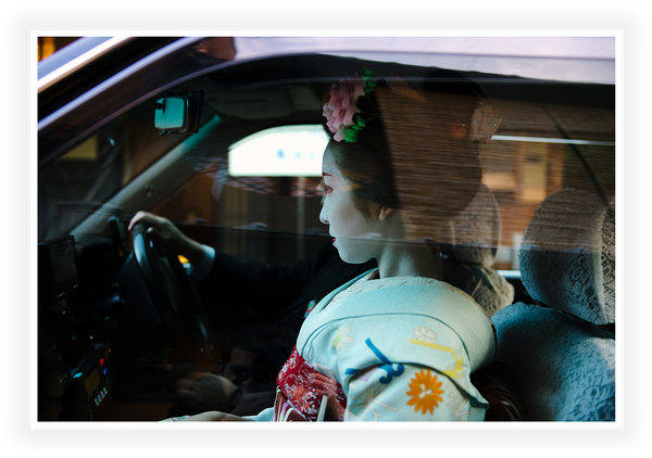 Kyoto - Geisha in the cab