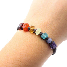 Load image into Gallery viewer, Raw Gemstone Chakra Bracelet