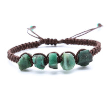 Load image into Gallery viewer, Raw Emerald Bracelet