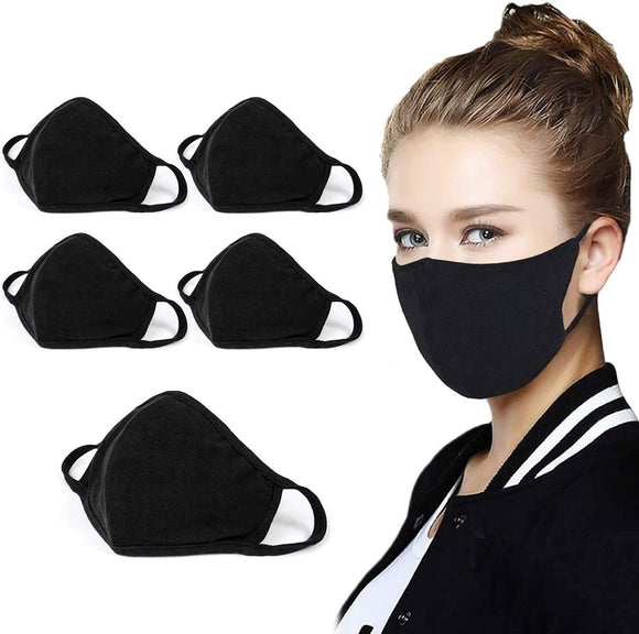 Unisex Washable Reusable Cotton Mask (5PCS)