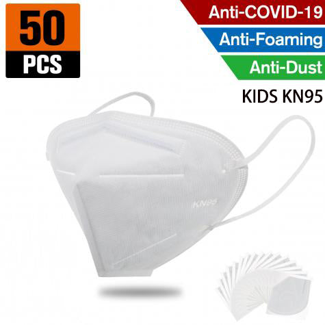 KN95 FFP2 Kids Mask– 4 Layer Respirator (50pcs)