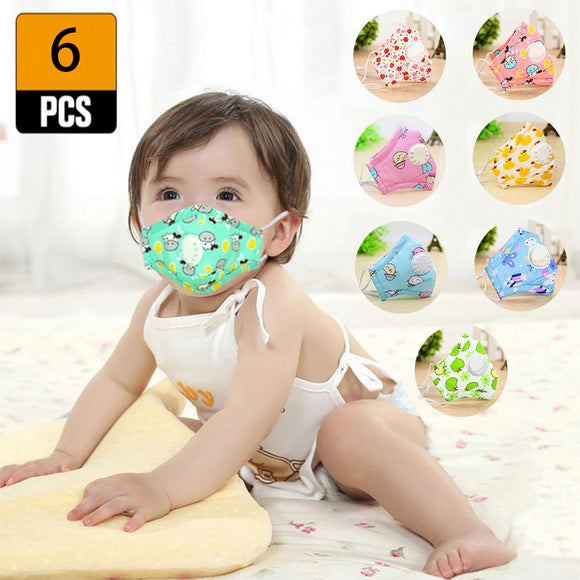 Kids Face Masks - Anti Pollution Mask (6pcs)