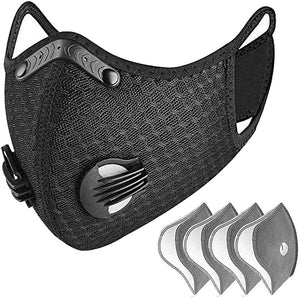 Sports Masks with Activated Carbon Filter