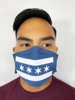 Blue & White Chicago Flag Face Mask