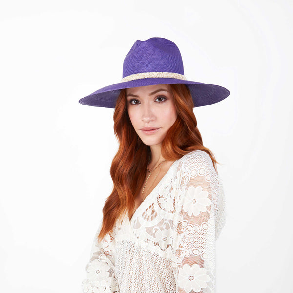 The ROSA Purple Panama Hat