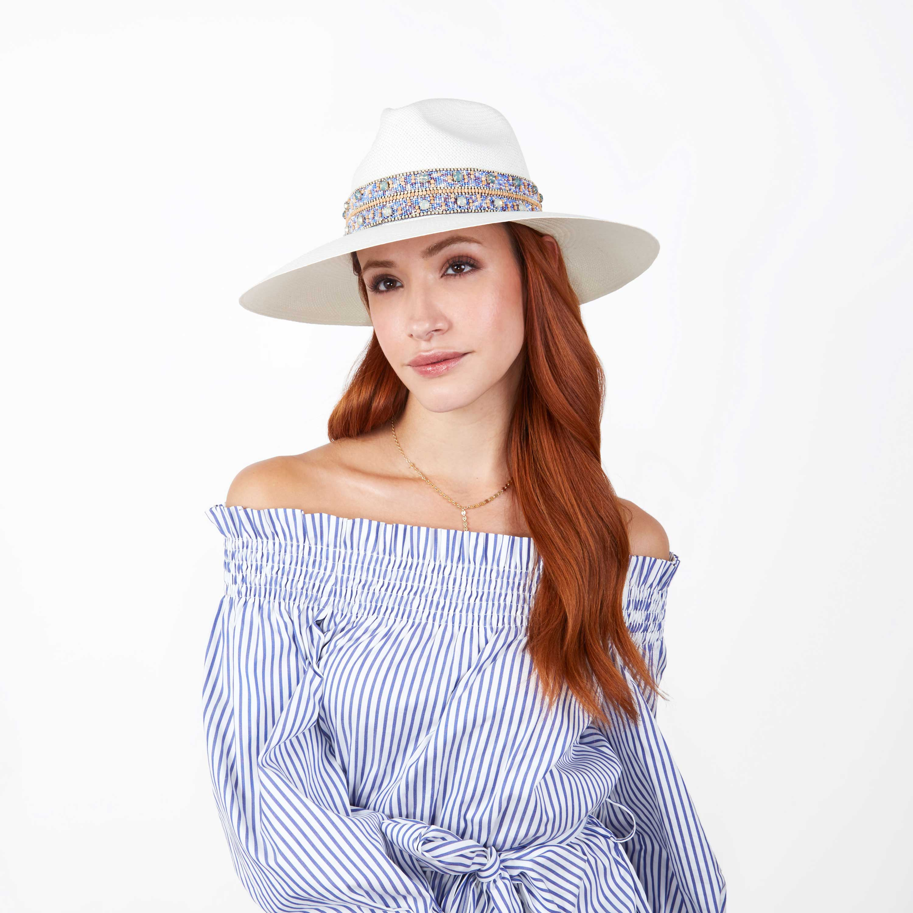 The Paros Blue Crystal Panama Hat