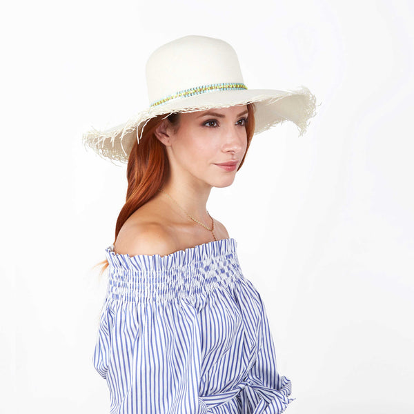 The Bonafacio Frayed Edge Panama Hat