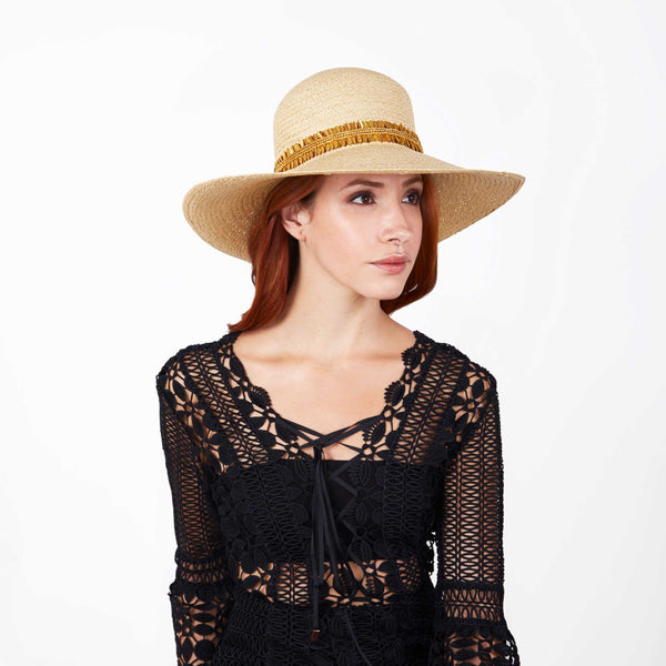 The Crete Embroidered Panama Hat