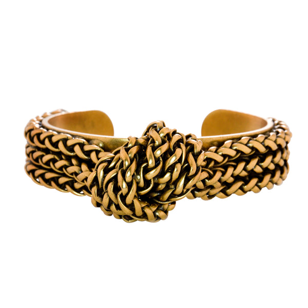 Knotted Rope Chain Cuff Bracelet