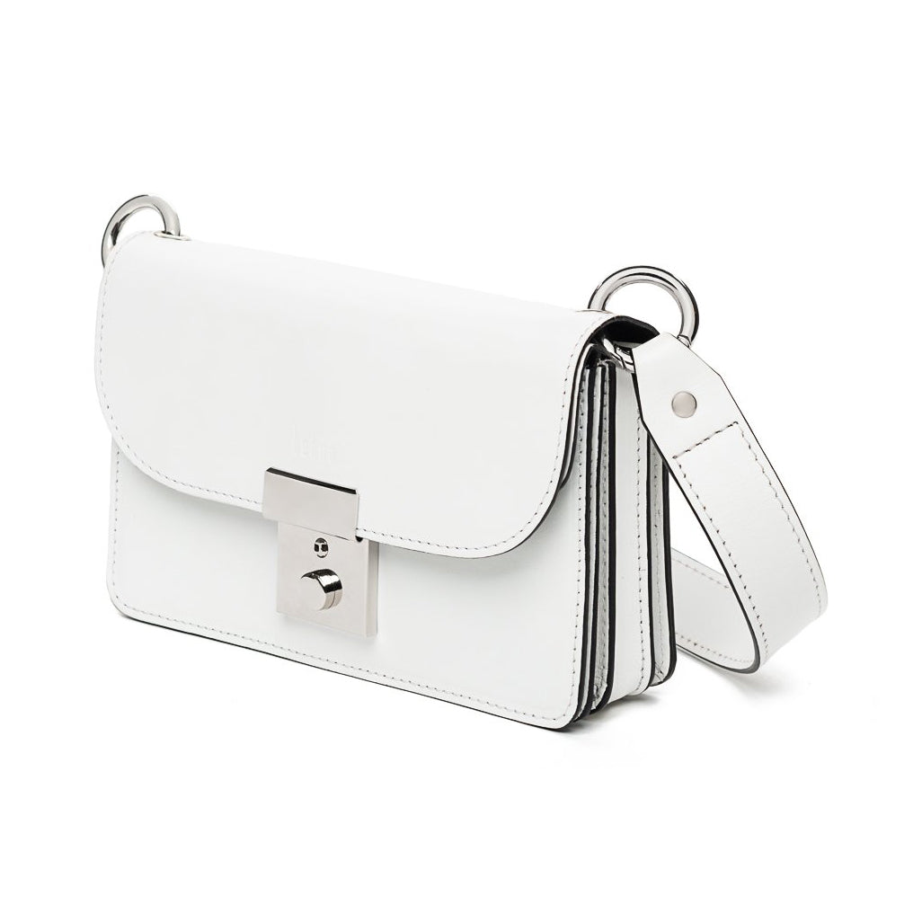 Amanda White Leather Belt Bag