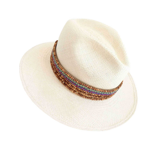 The ANACAPRI Beaded Pearl Panama Hat