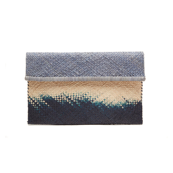 Ariel Dove Straw Clutch Bag