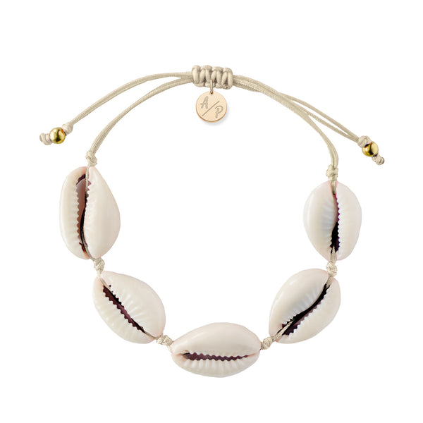 Natural Shell Bracelet in Ivory
