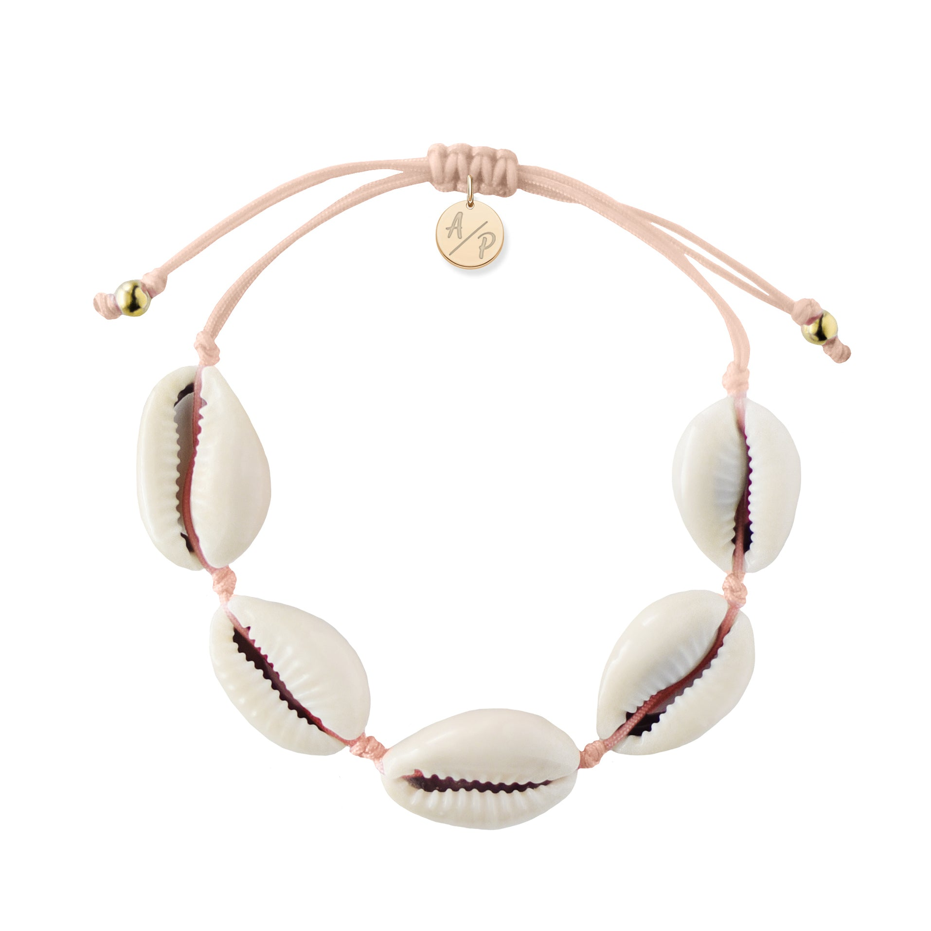 Natural Shell Bracelet in Light Pink