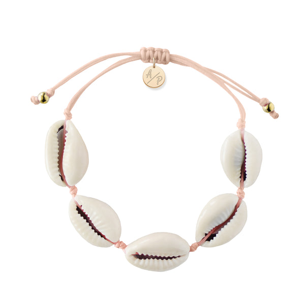 Natural Shell Bracelet Light Pink