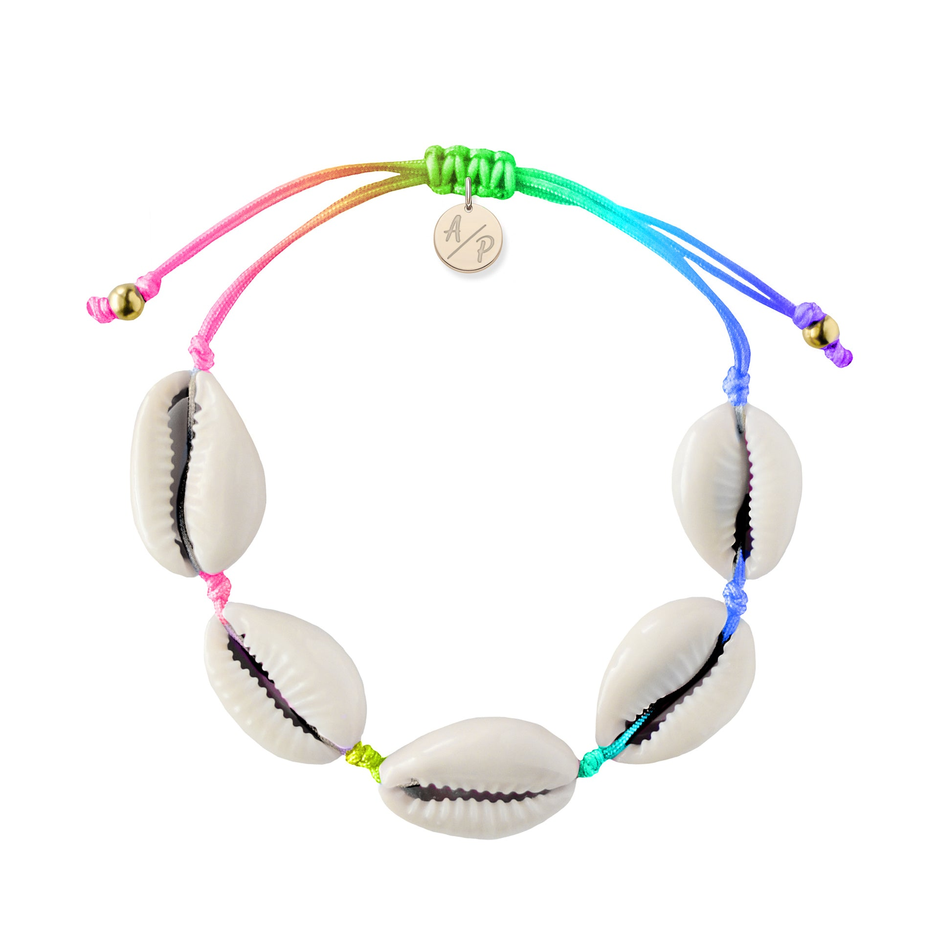Natural Shell Bracelet in Pastel Tie Dye