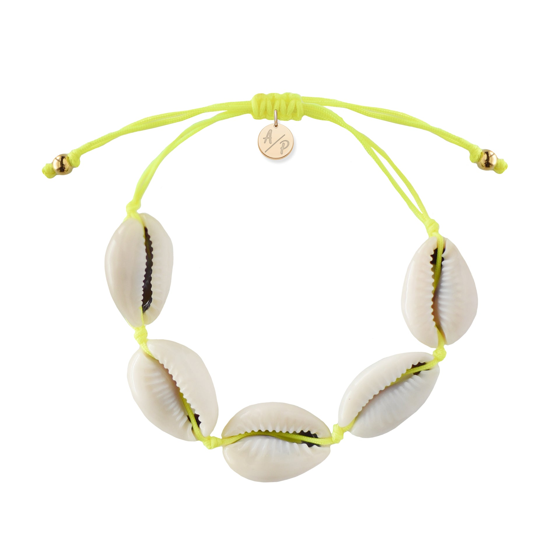 Natural Shell Bracele Neon Yellow