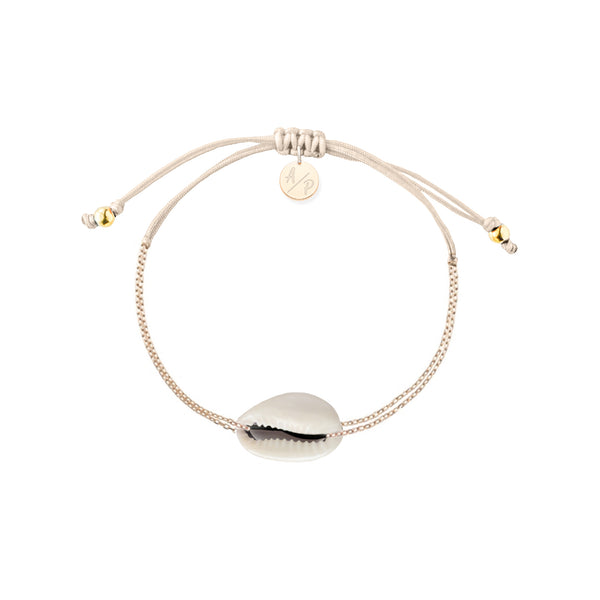 Mini Natural Shell Chain Bracelet Ivory
