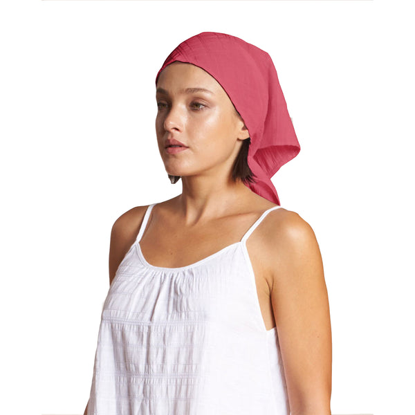 Baba Head Scarf in Rose Linen