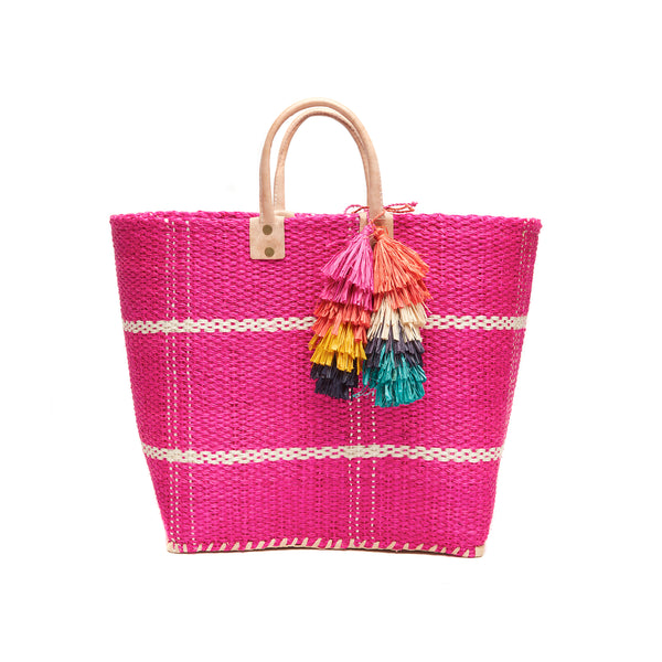 Belo Pink Structured Tote Bag