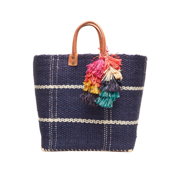 Belo Navy Structured Tote Bag