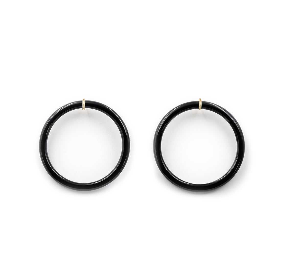 Donut Hoop Earring in Black Onyx