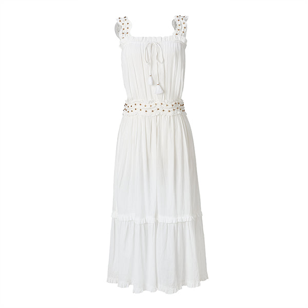 Monaco Long White Maxi Sundress