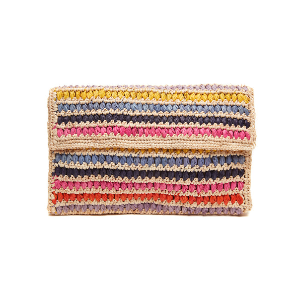 Chloe Natural Straw Clutch