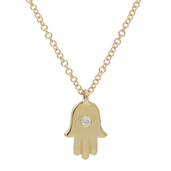 Mini Gold Hamsa Necklace