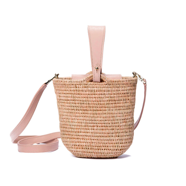 Zandi Quartz Leather Trimmed Bucket Bag