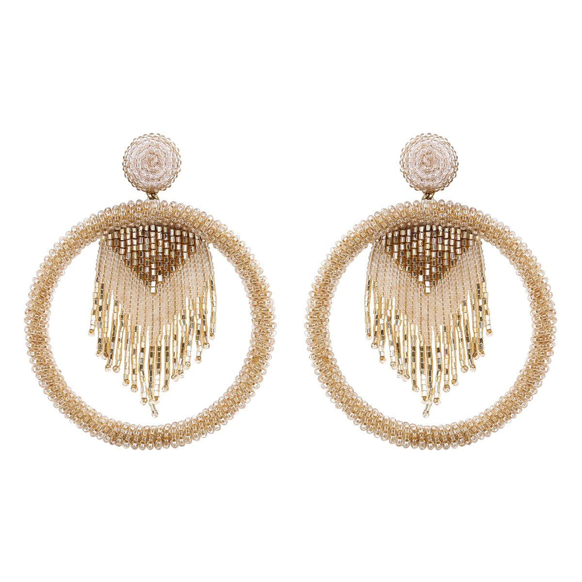 Deepa by Deepa Gurnani Handmade Sadia Earrings in Gold