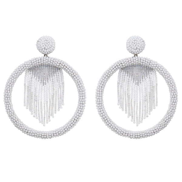Deepa by Deepa Gurnani Handmade Sadia Earrings in White