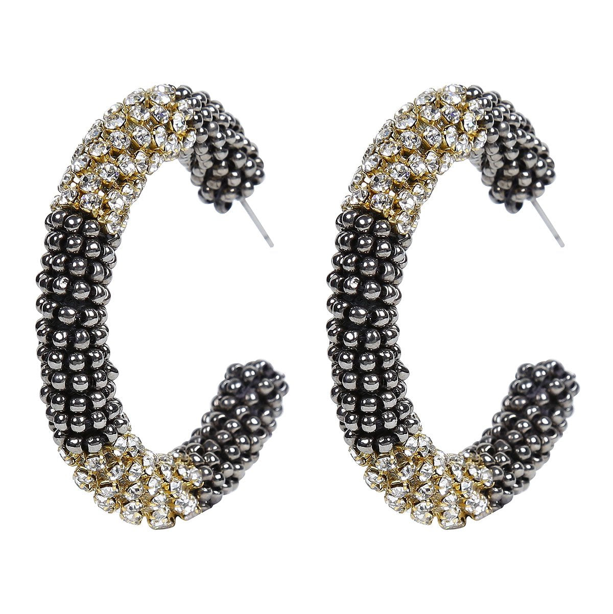 Deepa by Deepa Gurnani Handmade Beaded Hoop Earrings