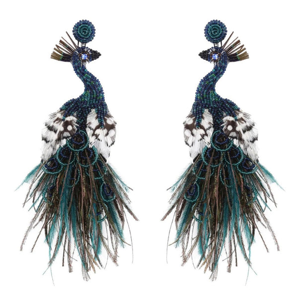 Deepa Gurnani Handmade Peacock Earrings