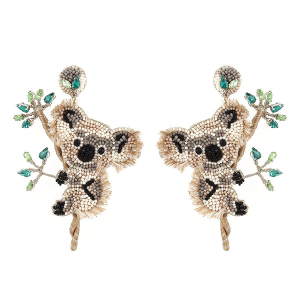 Deepa Gurnani Handmade Koala Earrings