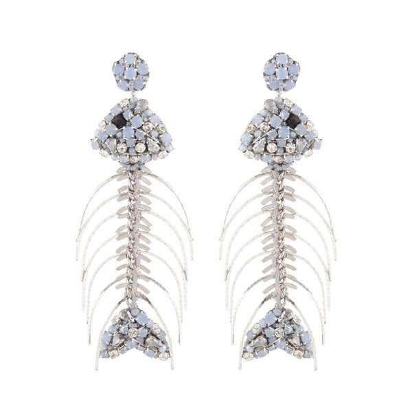 Deepa Gurnani Handmade Fishbone Earrings