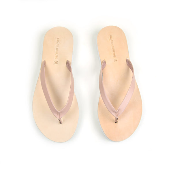 Eva Blush Leather Flip Flop