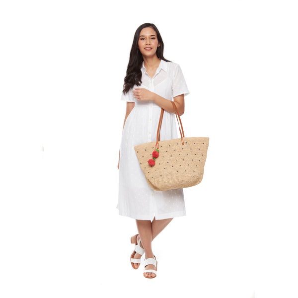 Florence Multi Straw Tote Bag